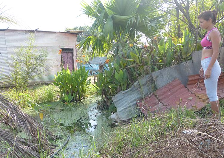Casas de la calle Unión de La Orquídea están convertidas en piscinas