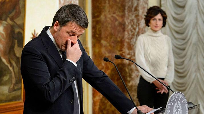 Matteo Renzi renunció de forma inmediata tras derrota