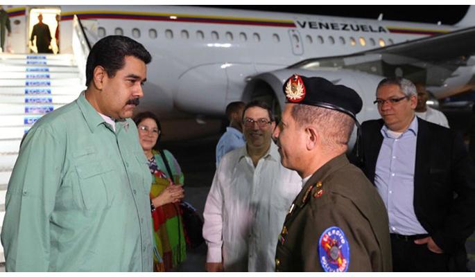 Nicolás Maduro llegó a Cuba para celebrar aniversario del ALBA