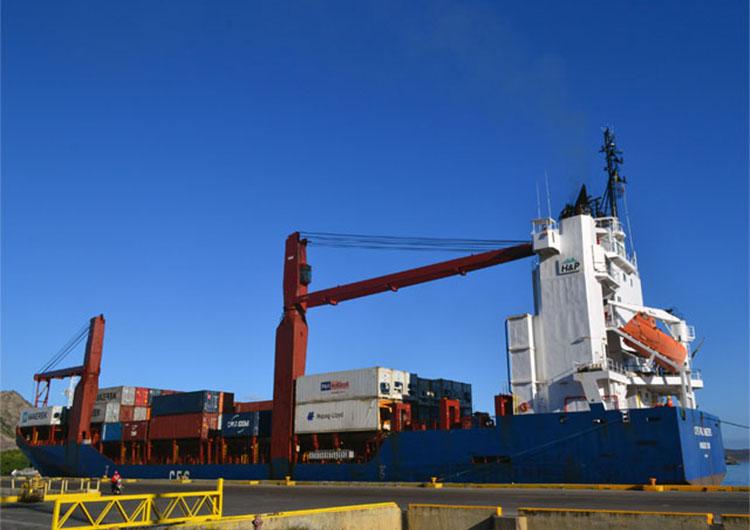 771 toneladas de comida e insumos médicos arribaron al puerto de Guanta