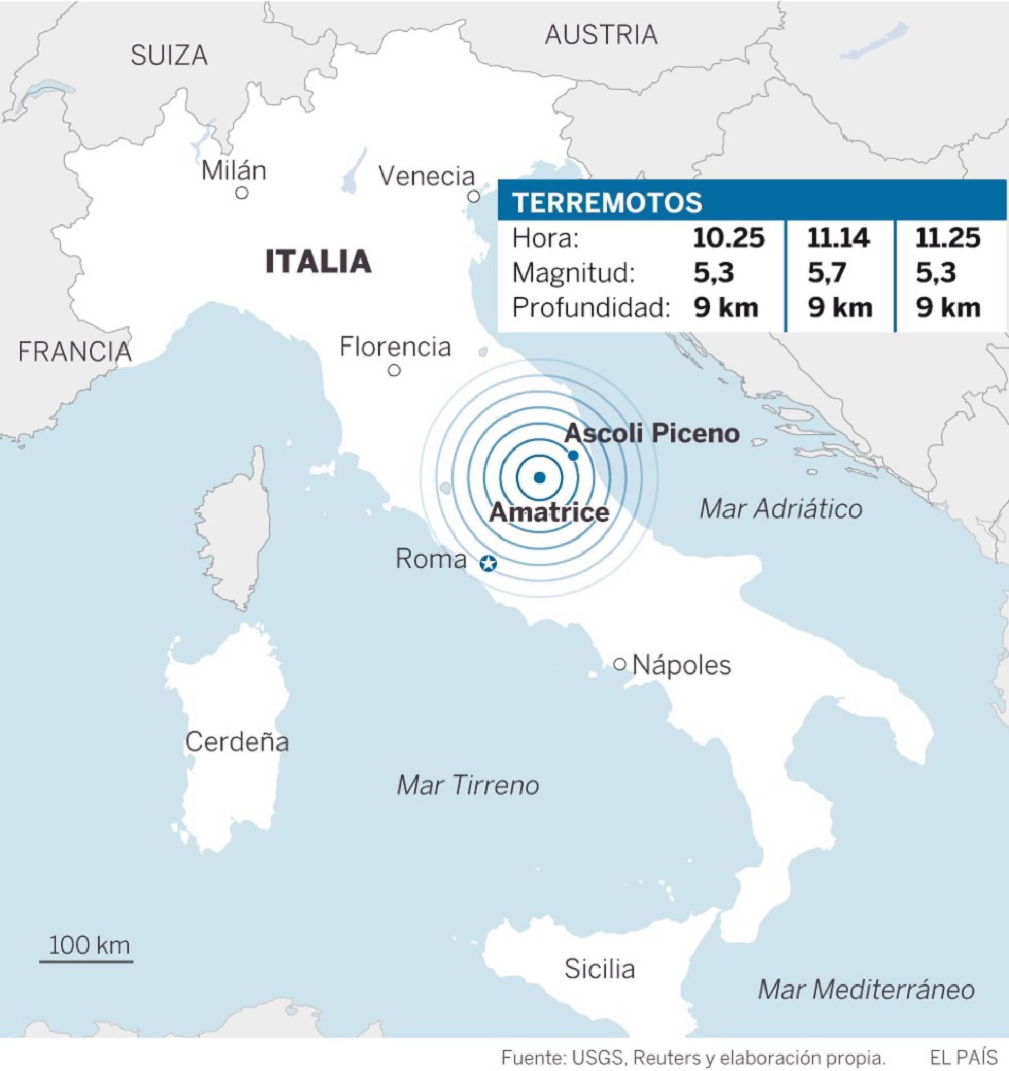 Sismo de 5,3 estremece nuevamente el centro de Italia