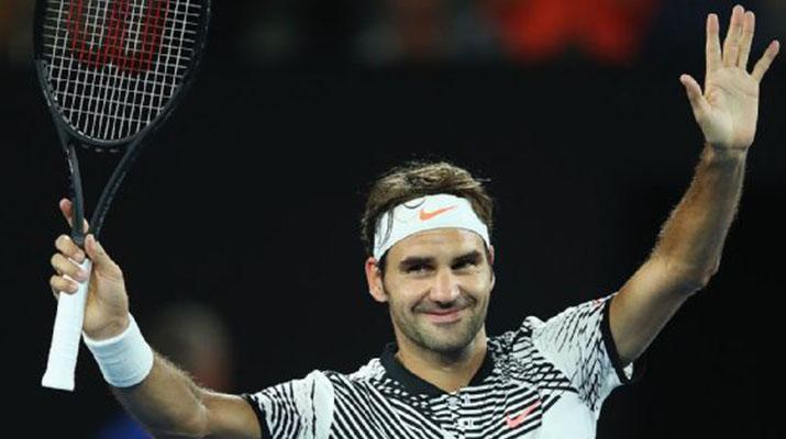 Federer triunfó y  avanzó en Australia