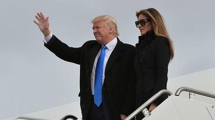 Donald Trump arribó a Washington para su acto de investidura