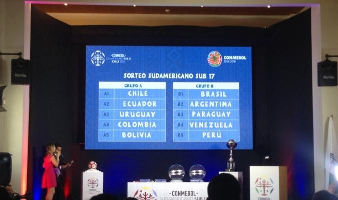 Venezuela sub 17 ya conoce  a sus rivales