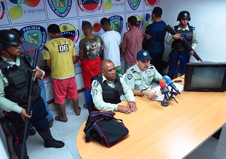 Polisotillo capturó a seis  individuos en tres procedimientos en Puerto La Cruz