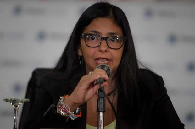 Delcy Rodríguez denunció campaña mediática contra Venezuela