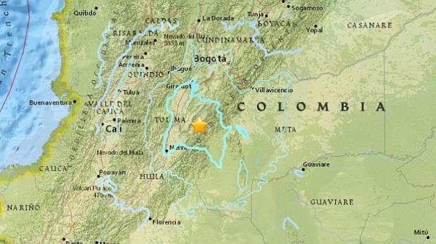 Sismo magnitud 5,7 sacude gran parte de Colombia