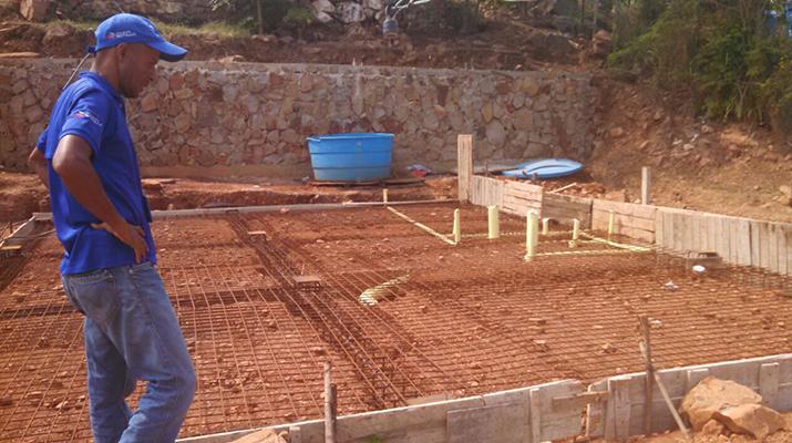 Imvis ha realizado el vaciado de 50 losas para construcción de viviendas