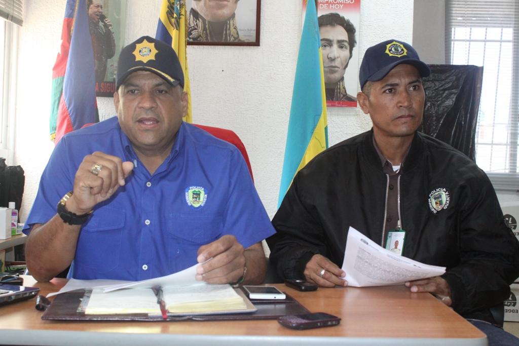 Uniformados de Poliguanta atraparon a dos presuntos antisociales en Volcadero