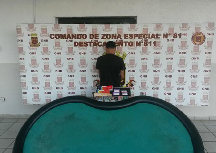 Por colaborar con casinos clandestinos la GNB  apresó a ciudadano en El Tigre