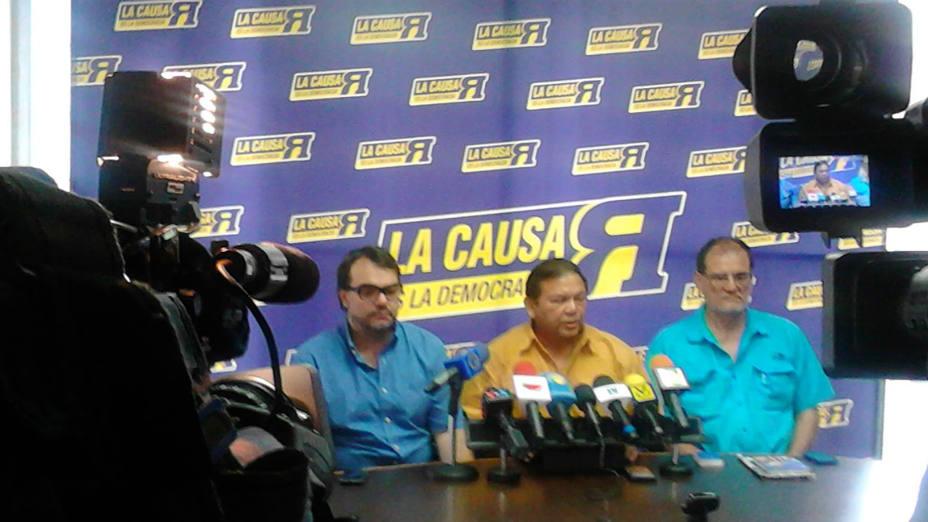Causa R anuncia que no participará en la renovación de partidos
