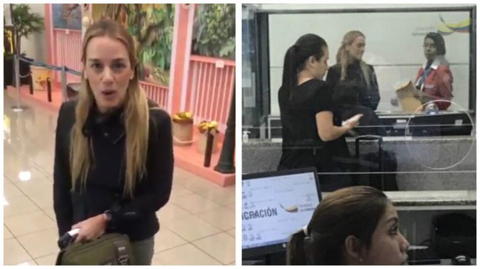 Autoridades ecuatorianas impidieron el ingreso de Lilian Tintori  al país