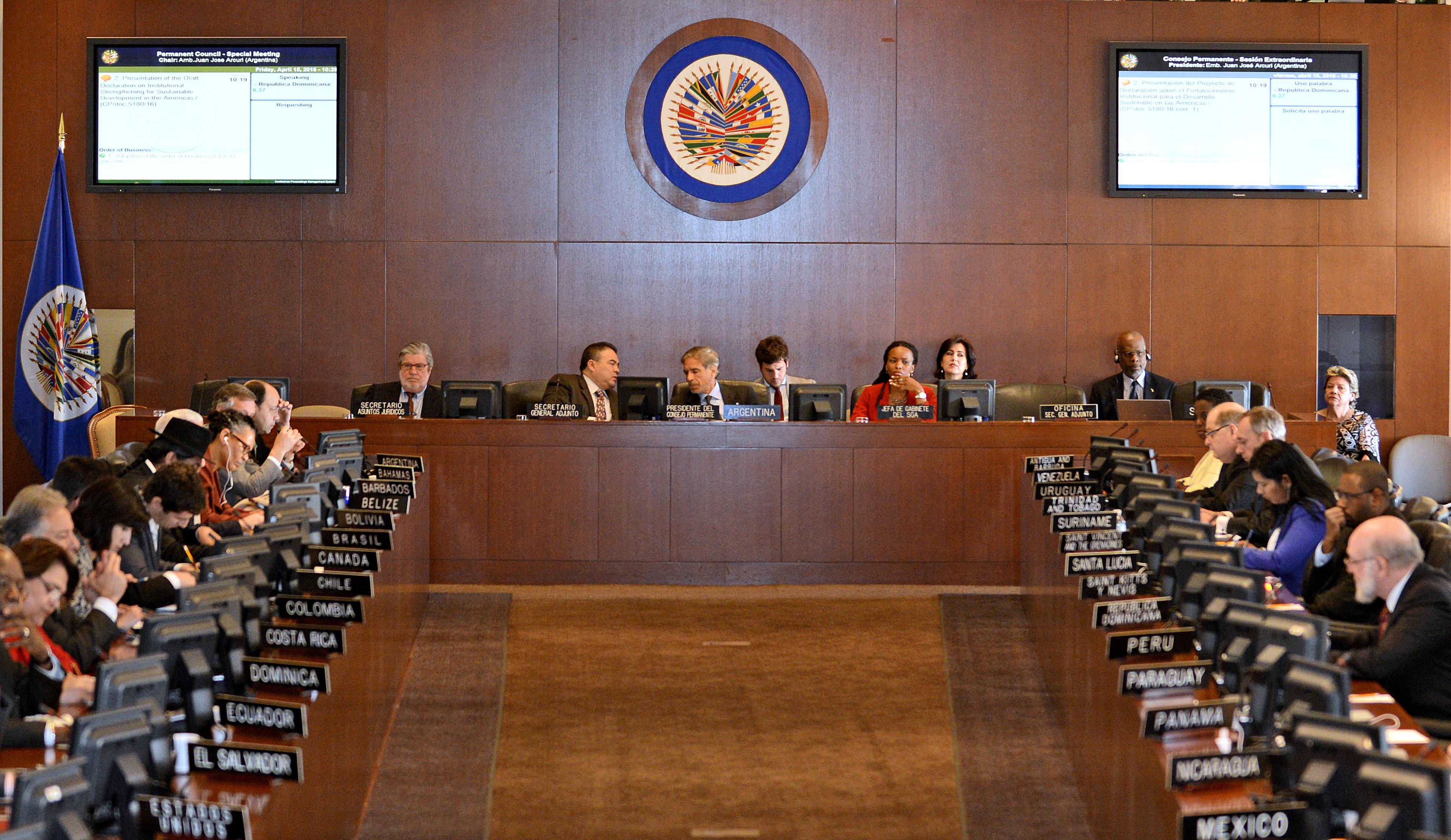Consejo Permanente de la OEA discutirá el martes 28 sobre Venezuela