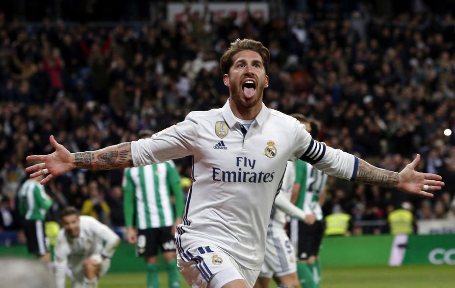 Sergio Ramos llevó  a la punta al Madrid