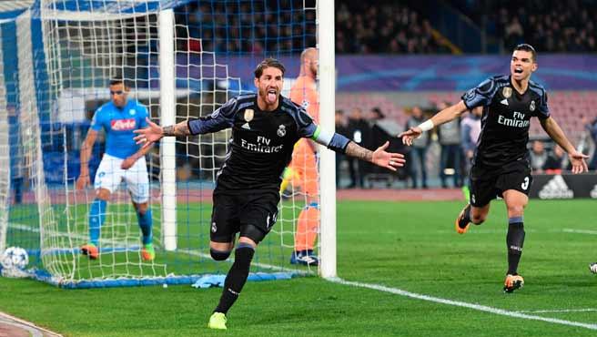 El Madrid dio una felpa al Nápoles
