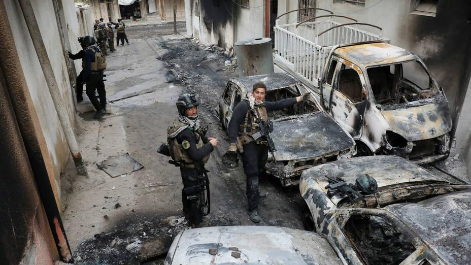 asa en Mosul era  el centro de prensa del Estado Islámico