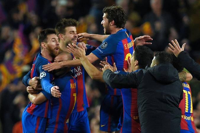 Goleada y pase del Barcelona