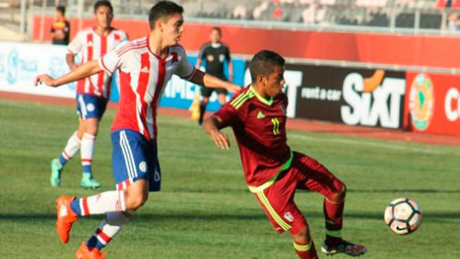 Vinotinto sub 17  enfrenta a Colombia en Sudamericano