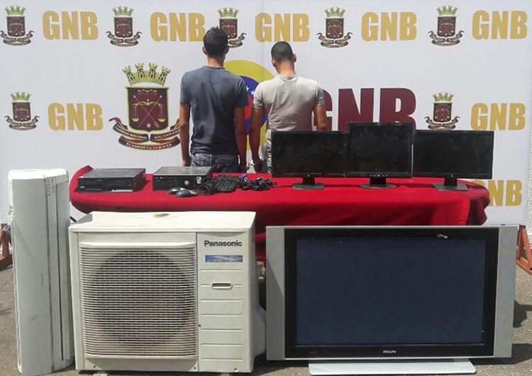 GNB capturó dúo hamponil cuando hurtaba en subestación eléctrica»