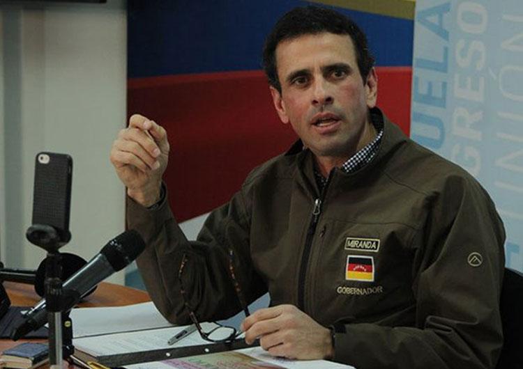 Henrique Capriles: El único inhabilitado es Nicolás Maduro