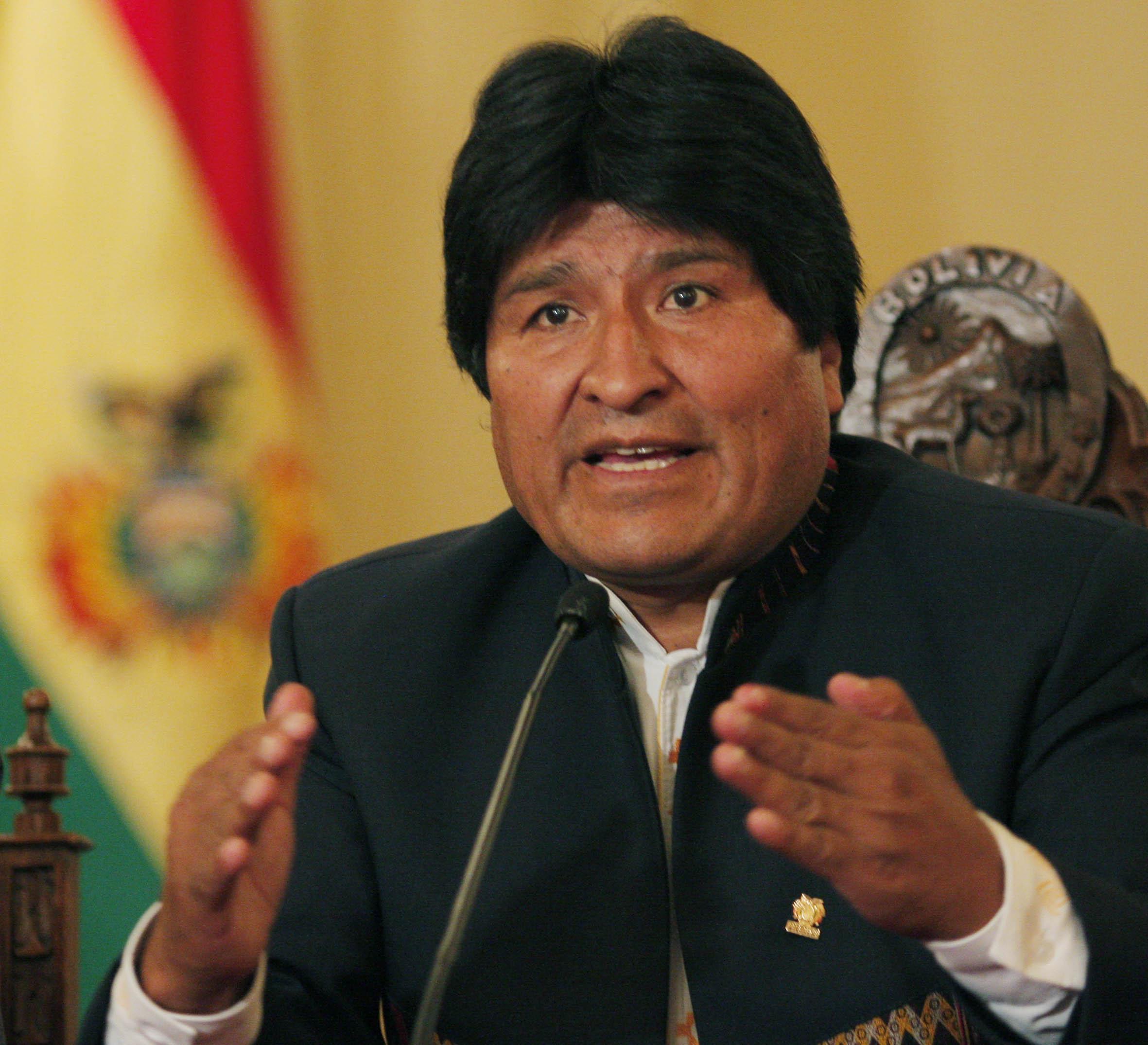 Evo Morales acusó a EEUU de querer derrocar a Maduro