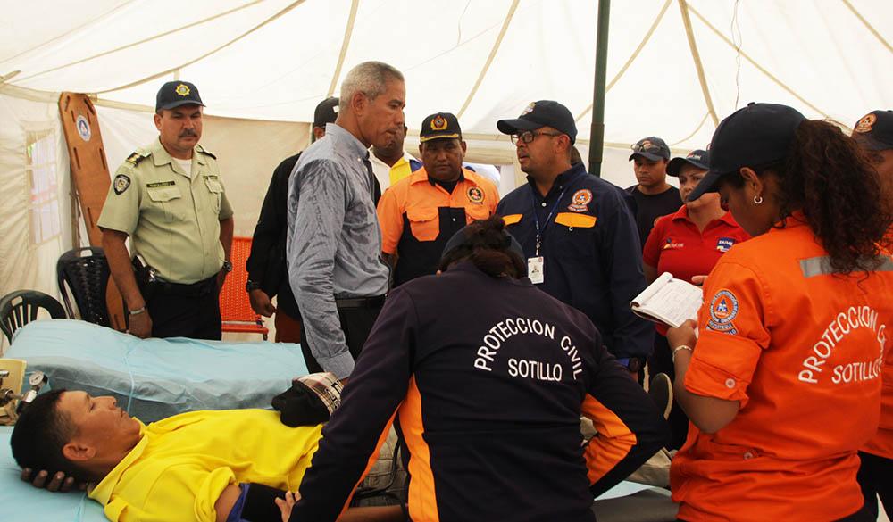 Funcionarios de Protección Civil Sotillo permanecen activos durante la Semana Mayor