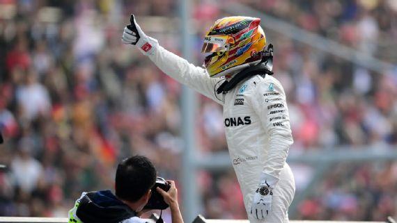 Hamilton mandó en pole de Shanghai