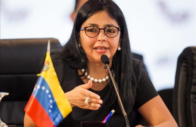 Delcy Rodríguez rechazó comunicado de 11 países sobre protestas en Venezuela