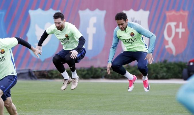 MSN se entrenó  con el FC Barcelona