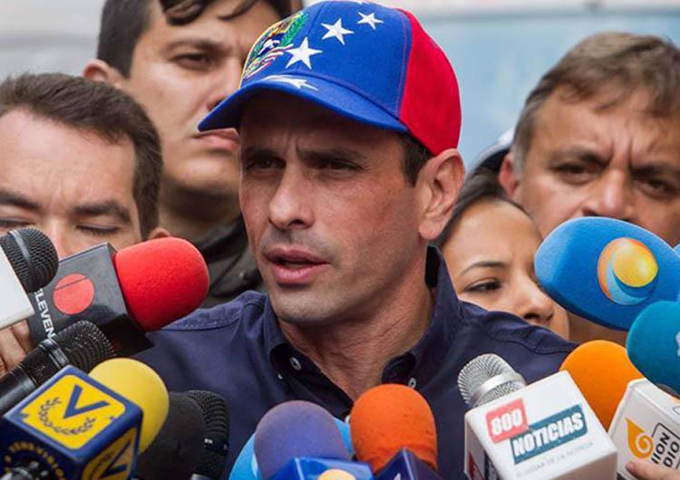Capriles: El Gobierno busca anarquizar la protesta