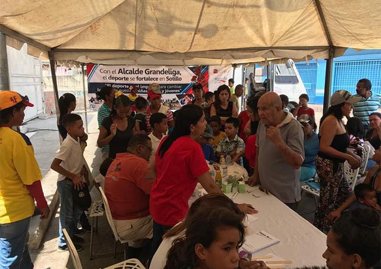 Más de 1.500 familias fueron beneficiadas con jornadas alimenticias