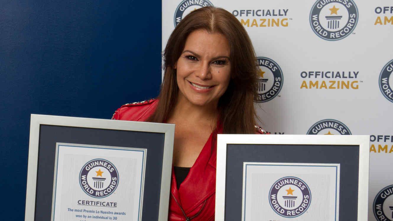 Olga Tañón se anotó dos records Guinness