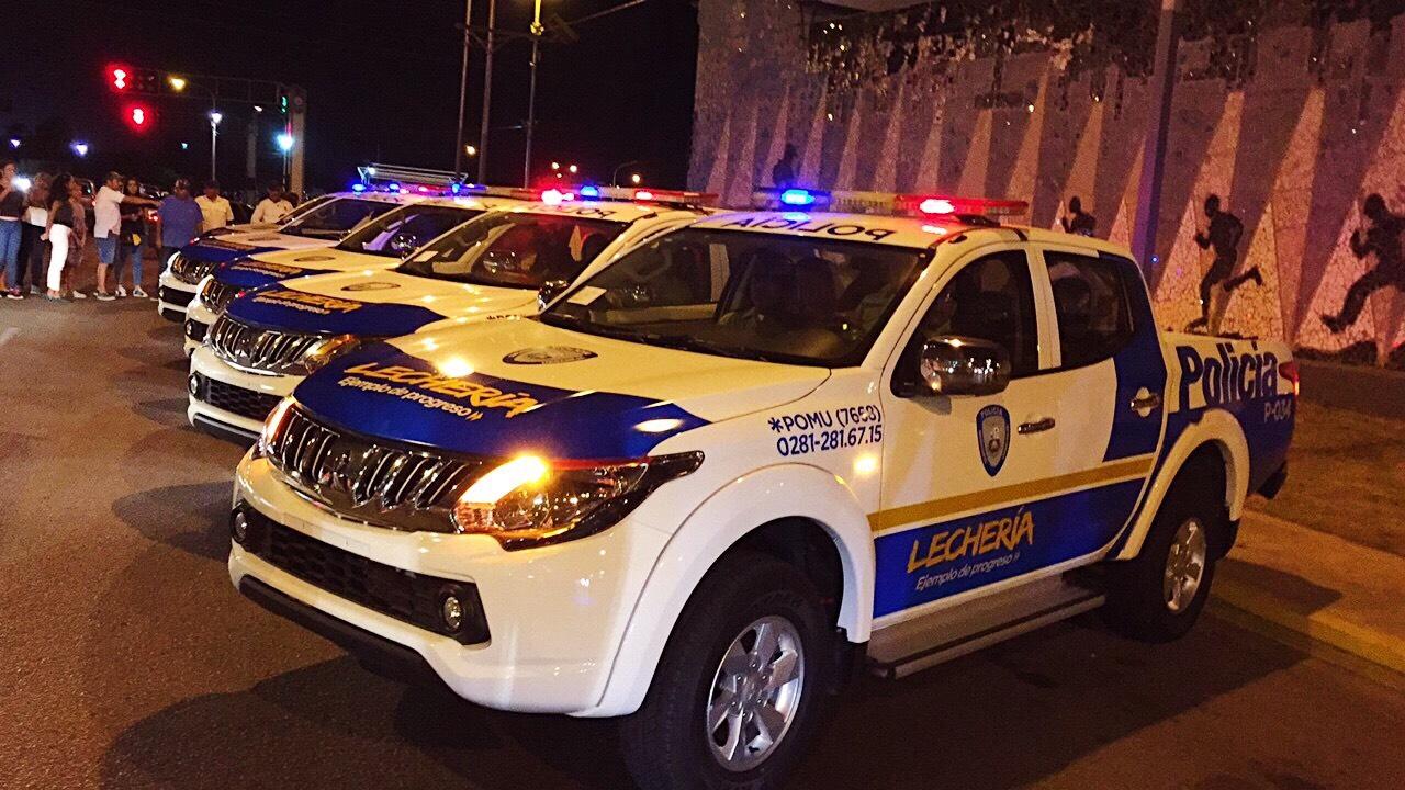 Policía de Lechería cuenta con nuevas patrullas