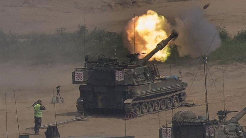Corea del Sur abre fuego contra un objeto volador en la frontera con el Norte