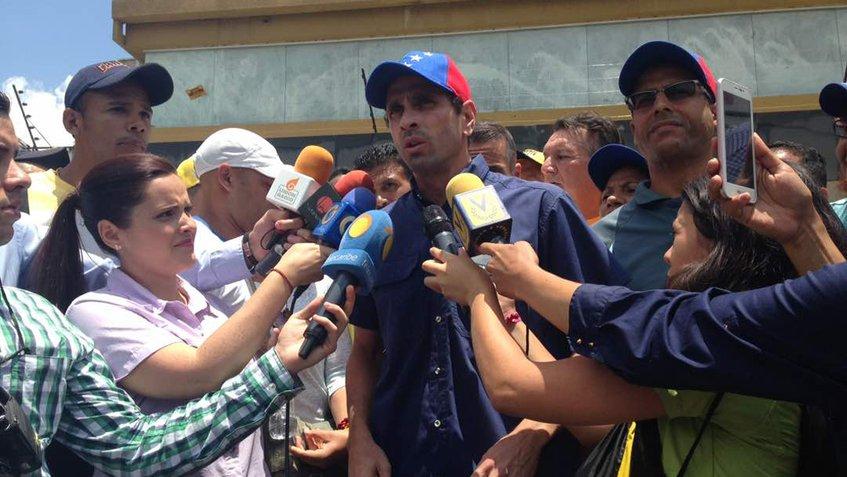 Capriles asegura que no participarán en un proceso fraudulento constituyente