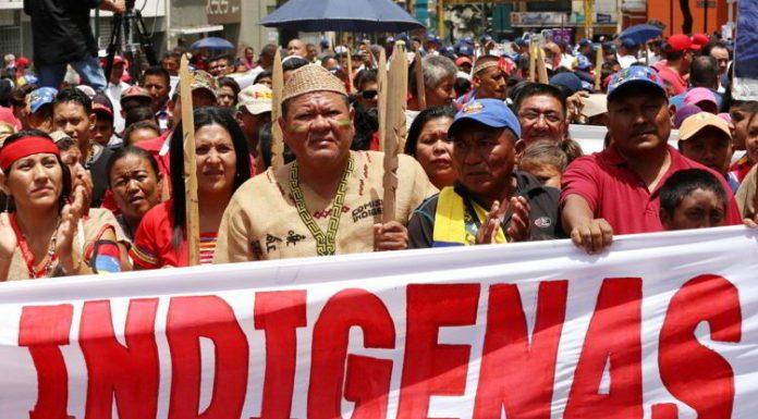 Pueblos indígenas se concentran en respaldo a la Constituyente