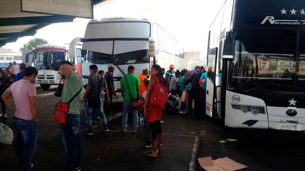 En Anzoátegui aumentó demanda de pasajeros hacia zona fronteriza con Brasil y Colombia