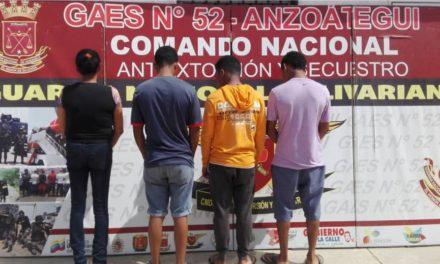 GAES 52 Anzoátegui detuvo a extorsionadores en terminal marítimo de Guanta