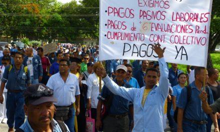 Empleados públicos protestaron por mejoras salariales