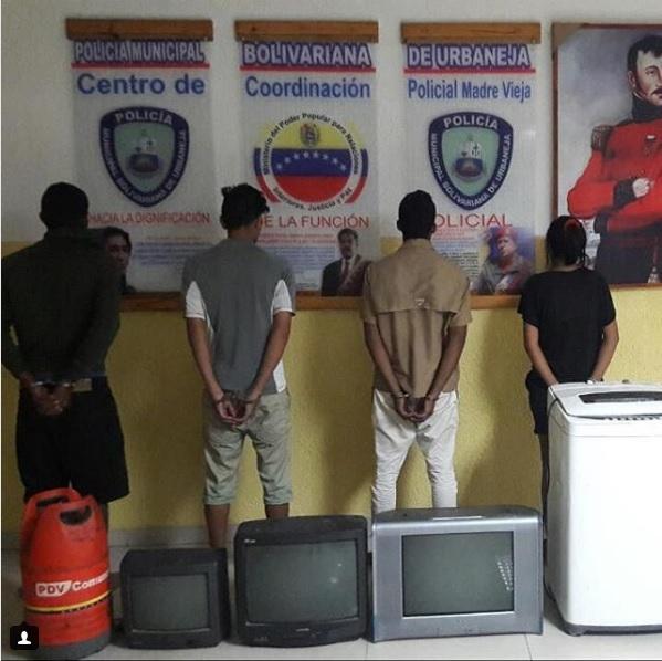 Poliurbaneja detuvo a cuatro sujetos de la banda «los machuelos»