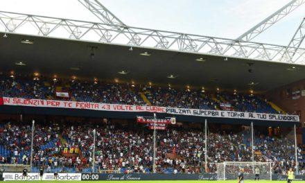 Los hinchas del Genoa homenajearon a víctimas del Puente Morandi