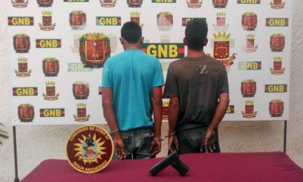 Cuatro detenidos por la GNB tras incautar armas
