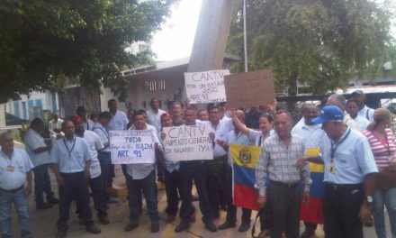 Trabajadores de Cantv protestaron por incrementos salariales