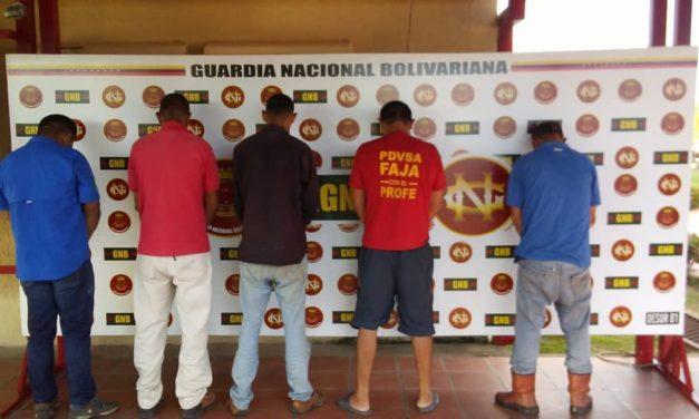 GAES 81 detuvo a sujetos que extorsionaban a contratistas petroleros
