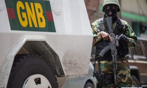 Detienen a sargento de la GNB por atracar con arma de juguete