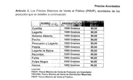 Sundde publicó nuevos precios para distintos cortes de carne