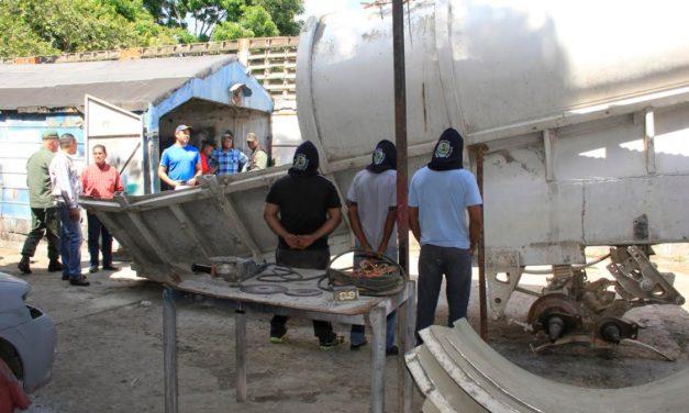 Polibolívar aprehendió a tres sujetos por hurto y comercialización de material estratégico