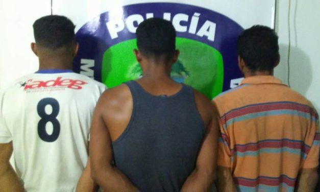 Poliguanta arrestó a tres hombres por hurto a un taller