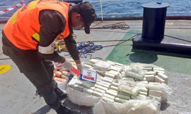 GNB incautó casi 150 kilos de cocaína en la bahía de Jóse