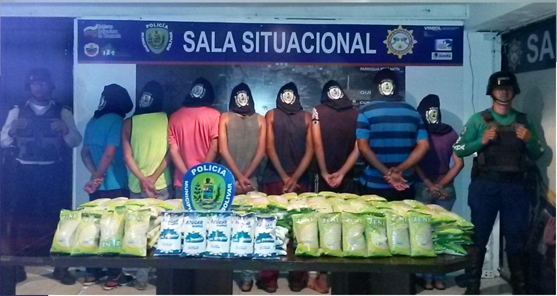 Polibolívar aprehendió 21 delincuentes en menos de 24 horas